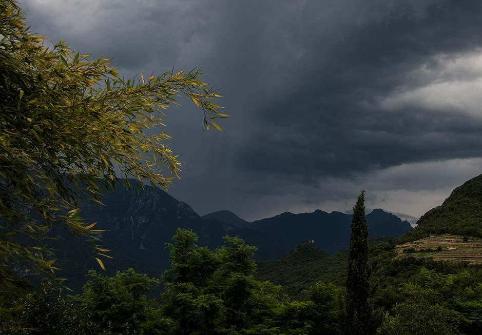 Unwetter beim Bergwandern