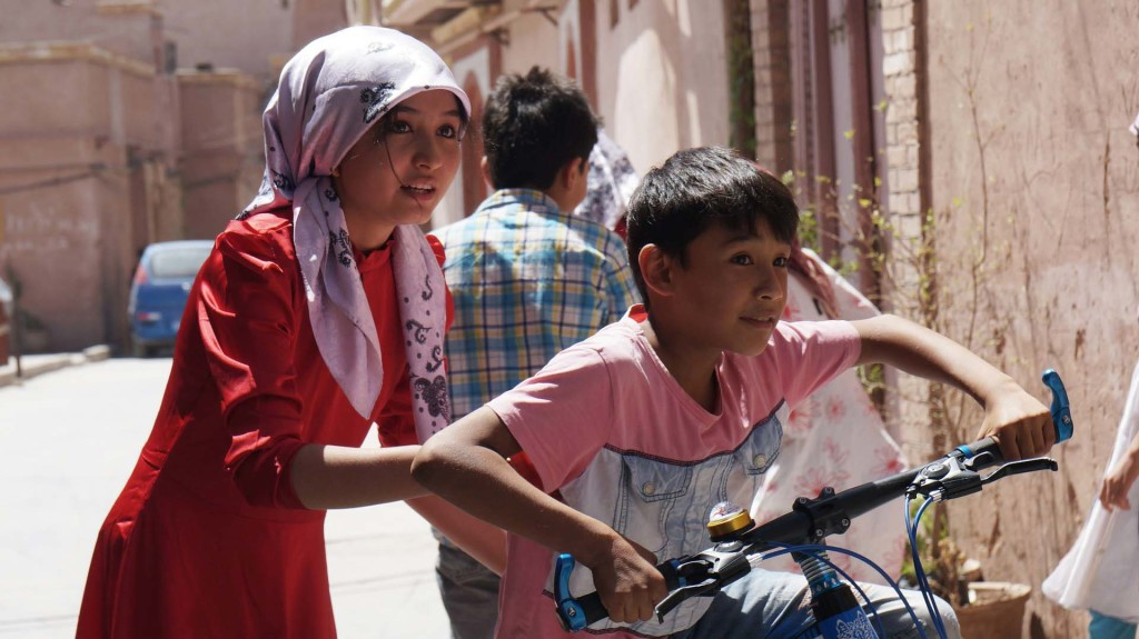 Flüchtlinge auf Fahrrad