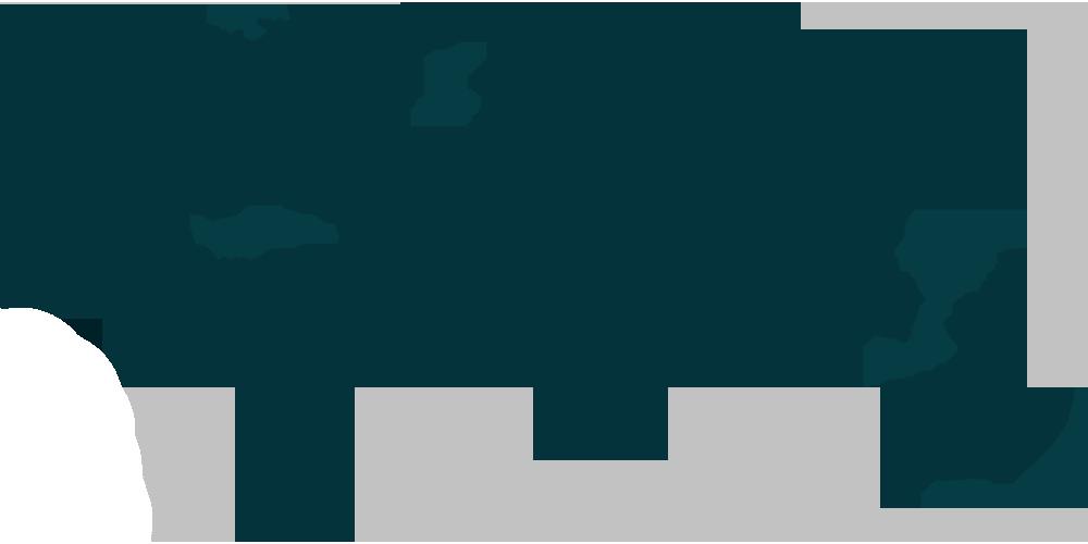 Weltkarte blau